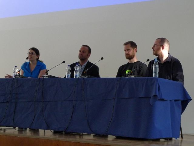 Photo of The CAA/CLA panel discussion at Desktop Summit 2011.